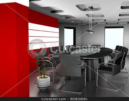 The modern interior of office 3d image  stock photo, The modern interior of office 3d image   by dacasdo