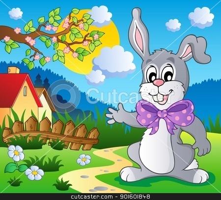 Easter bunny theme image 5 stock vector clipart, Easter bunny theme image 5 - vector illustration. by Klara Viskova