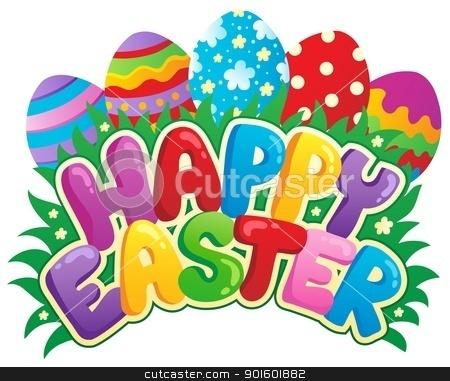 Happy Easter sign theme image 3 stock vector clipart, Happy Easter sign theme image 3 - vector illustration. by Klara Viskova