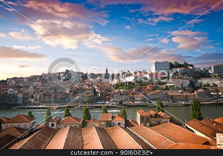 Old city Porto stock photo, Old city Porto at river Duoro, Oporto, Portugal. by Homydesign