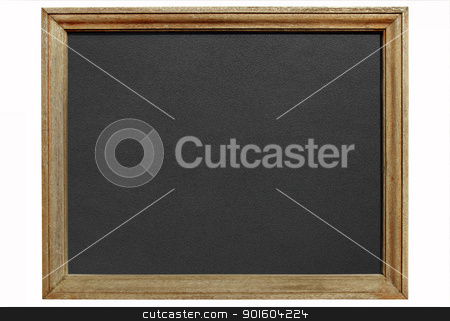 Old blackboard with wooden frame isolated white background. stock photo, Old blackboard with wooden frame isolated white background. by Stephen Rees