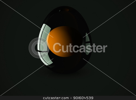 Glass 3d egg stock photo, A computer generated 3d egg from glass on dark background by p.studio66