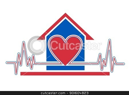 Home health care stock photo, An illustration of home health care icon by Sreedhar Yedlapati