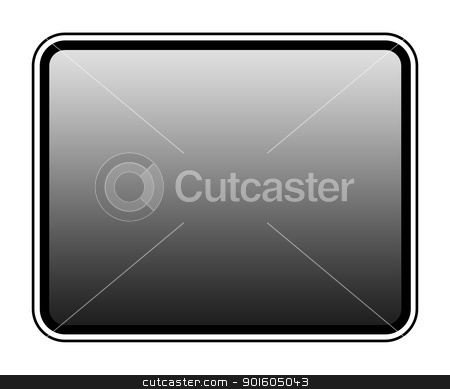 Blank tablet screen stock photo, Blank tablet screen isolated on white background with copy space. by Martin Crowdy