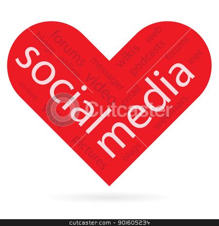 heart symbol as social media concept  stock vector clipart, Abstract heart symbol as social media concept, vector illustration. by antkevyv