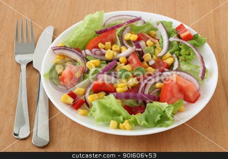 vegetable salad stock photo, vegetable salad by nataliamylova