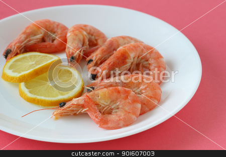 boiled shrimps stock photo, boiled shrimps by nataliamylova