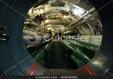 aboard submarine  stock photo, torpedo compartment on board the Russian submarine by mrivserg