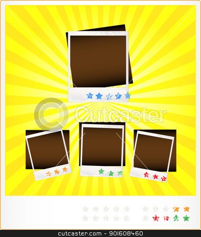 Set template old photoframeworks stock photo, Funny vector pattern from old photoframeworks with an estimation stars by Imaster