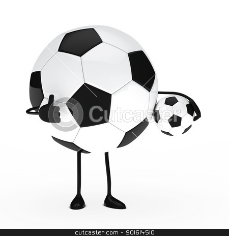 football figure hold ball stock photo, football figure hold ball show top thumb by d3images