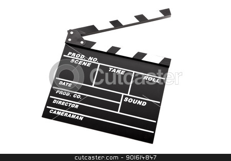 Clapboard stock photo, Picture of a Clapboard isolated on a white background by ikostudio