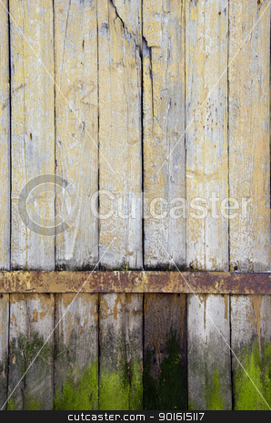 background ancient retro wooden plank rural door  stock photo, background of ancient retro vintage wooden plank rural building door.  by sauletas