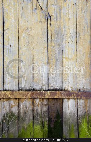 background ancient retro wooden plank rural door  stock photo, background of ancient retro vintage wooden plank rural building door.  by sauletas