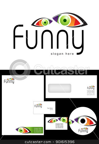 Funny Logo Design stock vector clipart, Funny Logo Design and corporate identity package including logo, letterhead, business card, envelope and cd label. by Nabeel Zytoon