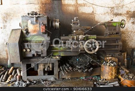 Old lathe stock photo, Old lathe by stoonn