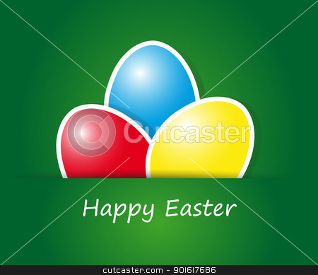 Happy Easter Card stock vector clipart, Abstract vector illustration of easter eggs in different colors by kurkalukas