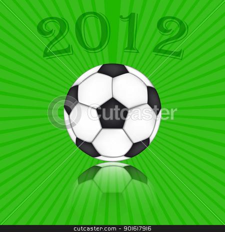 Soccer Ball Euro 2012 stock vector clipart, Soccer Ball Euro 2012 - Background Vector by kurkalukas