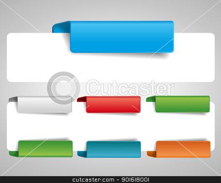 bookmark stock vector clipart, blank tab for the web by Miroslava Hlavacova