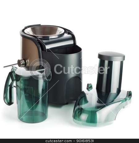 juice extractor parts stock photo, juice extractor parts isolated on white by Petr Malyshev