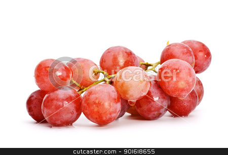 bunch of red grape stock photo, bunch of red grape isolated on white background by Petr Malyshev