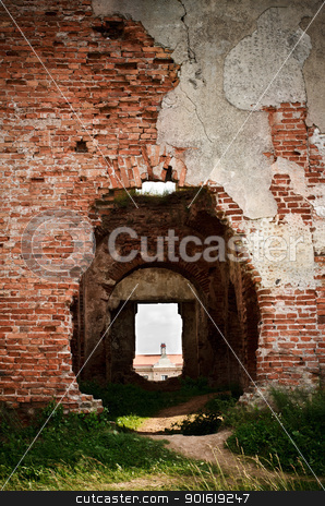 doors in walls of old castle stock photo, doors in walls of old castle at summer day by Petr Malyshev