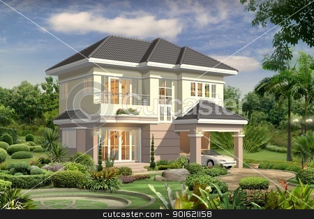 3d house stock photo, 3d house by yeyen