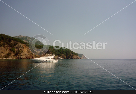 a view from a bay stock photo, Montenegro - a view from a bay by Uliana Gureeva