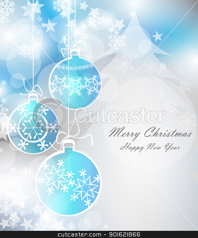 ball stock vector clipart, Christmas background  by Miroslava Hlavacova
