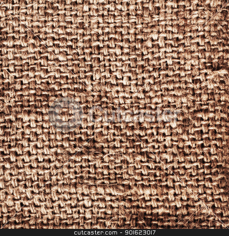 Old Sacking stock photo, old brown sacking grunge texture as background by Petr Malyshev