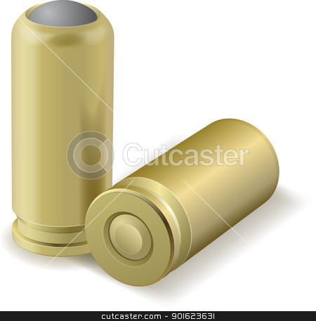Vector bullets stock vector clipart, Vector illustration of pair bullets by vtorous