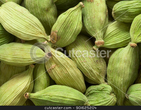 cardamon pods stock photo, close up of cardamon pods food background by zkruger