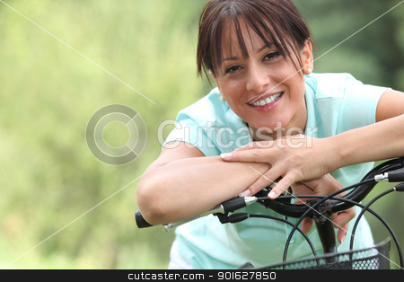 Woman on bicycle stock photo, Woman on bicycle by photography33