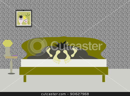 couple stock photo, couple in bed by africa