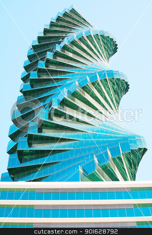 Cityscape office buildings with modern corporate architecture -  stock photo, Cityscape office buildings with modern corporate architecture - business and success concept  by dacasdo