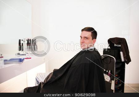 after hair cut stock photo, modern hairdressing salon for hair cut by Viktor Thaut