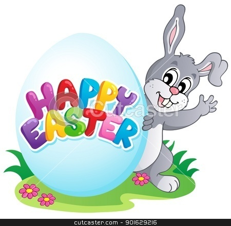 Happy Easter sign theme image 4 stock vector clipart, Happy Easter sign theme image 4 - vector illustration. by Klara Viskova