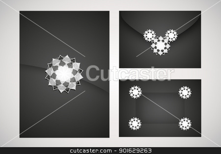 luxury, stock vector clipart, set black and white cards by Miroslava Hlavacova