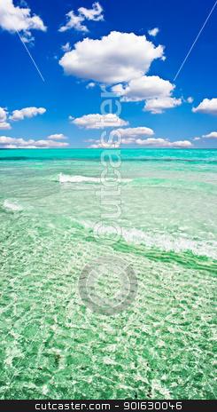 Sardinia stock photo, Clear sea and sandy beach La Cinta, Sardinia, Italy by Alexey Popov
