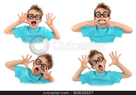 Child pulling faces stock photo, Child pulling faces by photography33