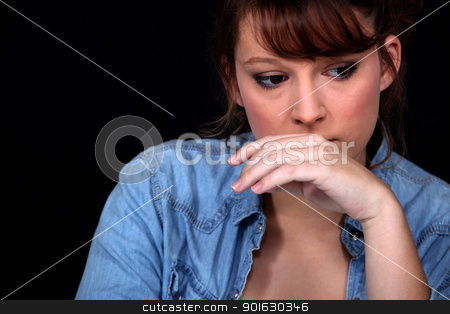 Worried woman stock photo, Worried woman by photography33