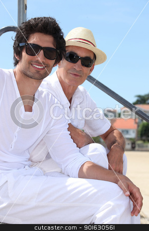 Father and son on a holiday trip. stock photo, Father and son on a holiday trip. by photography33