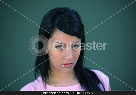 Serious young woman stock photo, Serious young woman by photography33