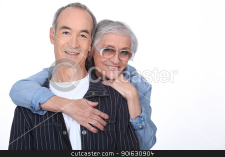 Older couple hugging stock photo, Older couple hugging by photography33