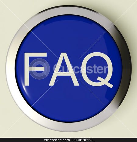 Frequently Asked Questions Button Or FAQ Icon stock photo, Frequently Asked Questions Button Or FAQ Icon Metallic And Blue by stuartmiles