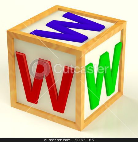 Block With Www As Symbol for Internet And Information stock photo, Wooden Block With Www As Symbol for Internet And Information by stuartmiles