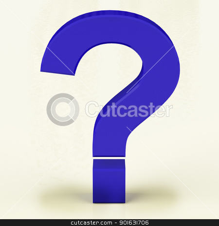 Blue Question Mark Representing Faqs Or Support stock photo, Blue Question Mark With White Background Representing Faqs Or Support by stuartmiles