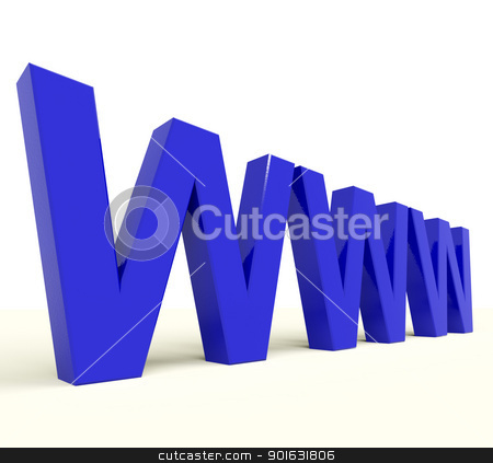 Www Word Showing Online Websites Or Internet stock photo, Www Word In Blue Showing Online Websites Or Internet by stuartmiles