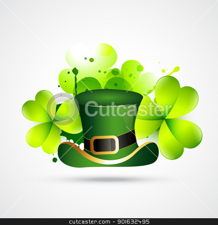 abstract style st. patrick's day vector stock vector clipart, abstract style st. patrick's day vector illustration by pinnacleanimates