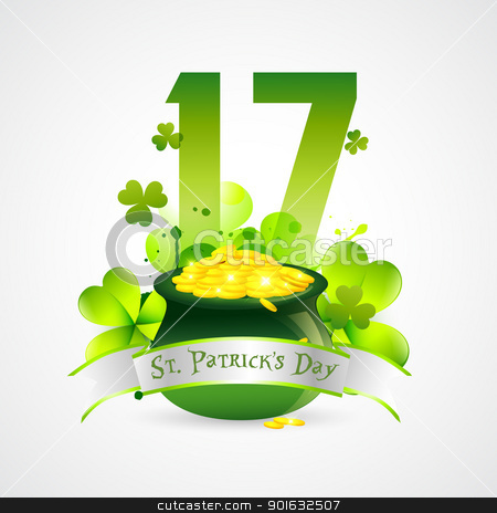 saint patricks day illustration stock vector clipart, saint patrick's day vector design by pinnacleanimates