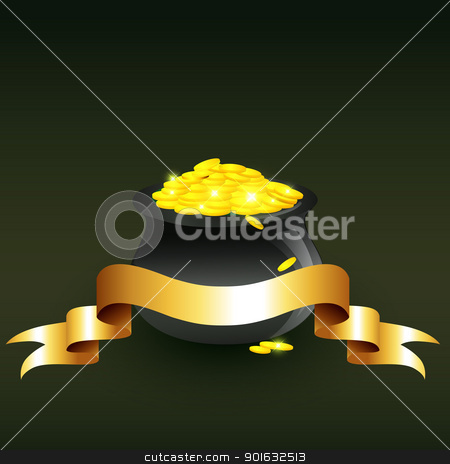 vector cauldron full of gold coins stock vector clipart, vector cauldron full of gold coins illustration by pinnacleanimates
